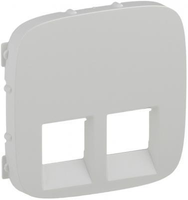 Лицевая панель Legrand Valena Allure для двойных телефонных/информационных розеток белый 755425  цены
