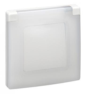 Рамка Legrand Etika с защитной крышкой IP44 белый 672550  цена и фото