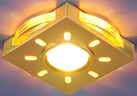 Встраиваемый светильник с двойной подсветкой Elektrostandard 1051 золото/желтый 4690389030611