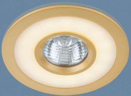 Встраиваемый светильник с двойной подсветкой Elektrostandard 1052 MR16 GD золото 4690389061684