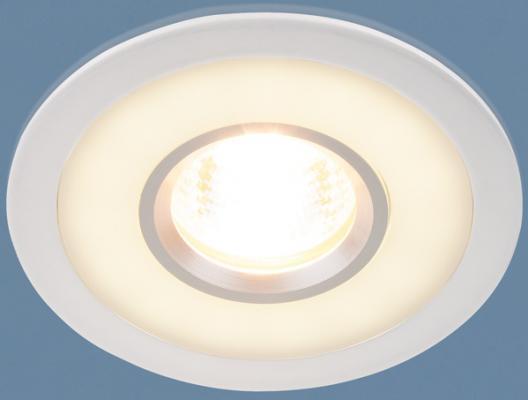 Встраиваемый светильник с двойной подсветкой Elektrostandard 1052 MR16 WH белый 4690389061660