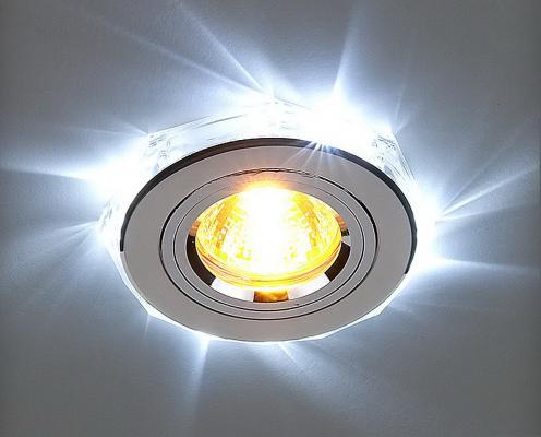 Встраиваемый светильник с двойной подсветкой Elektrostandard 2060 MR16 хром/белый 4690389007484
