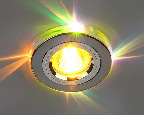 Встраиваемый светильник с двойной подсветкой Elektrostandard 2060 MR16 хром/мульти 4607176194722