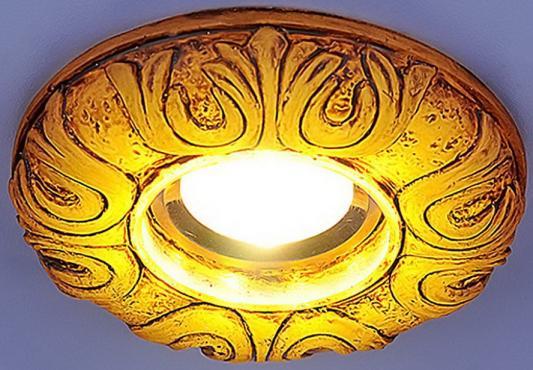 Встраиваемый светильник с двойной подсветкой Elektrostandard 3020 желтая подсветка 4690389030482