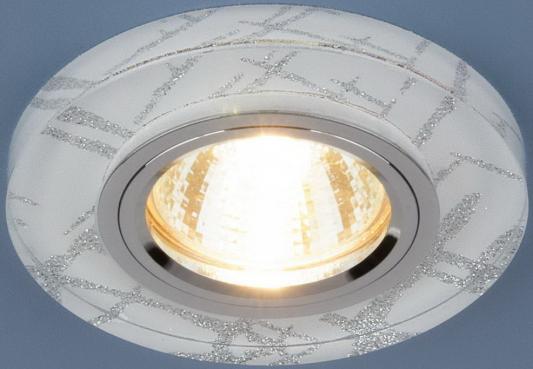 Встраиваемый светильник с двойной подсветкой Elektrostandard 8371 MR16 белый/серебро 4690389060618 точечный светильник с двойной подсветкой elektrostandard 4690389060618