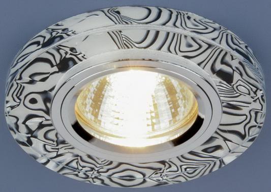 Встраиваемый светильник с двойной подсветкой Elektrostandard 8371 MR16 белый/черный 4690389060632 elektrostandard встраиваемый светильник с двойной подсветкой elektrostandard n4 s g4 multi мульти 4690389003189