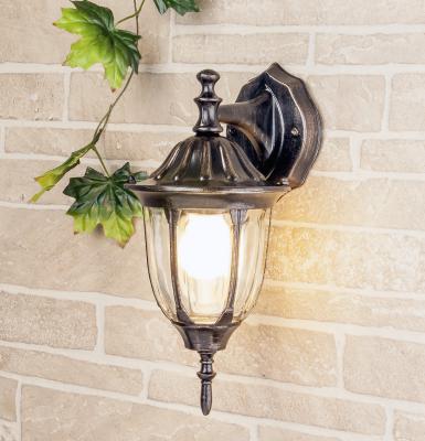 Уличный настенный светильник Elektrostandard 1002D черное золото 4690389076060
