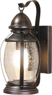 Уличный настенный светильник Elektrostandard Antares D черное золото 4690389064968