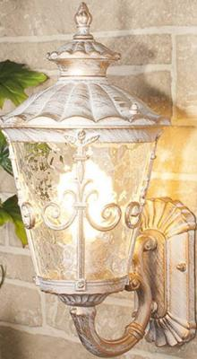 Уличный настенный светильник Elektrostandard Diadema U GLYF-8046U белое золото 4690389062131