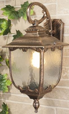 Уличный настенный светильник Elektrostandard Sculptor D черное золото 4690389064623