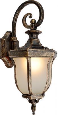 Уличный настенный светильник Elektrostandard Taurus D черное золото 4690389065026 elektrostandard лампа светодиодная elektrostandard свеча на ветру сdw led d 6w 3300k e14 4690389085505