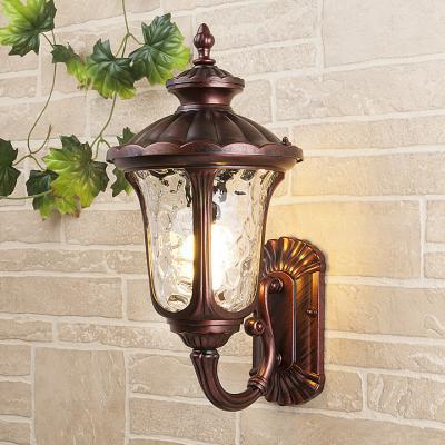 Уличный настеный светильник Elektrostandard Carina U GLYF-1452U махагон 4690389063152