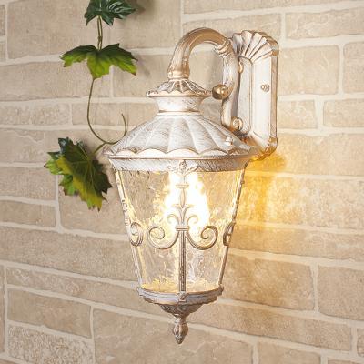 Уличный настеный светильник Elektrostandard Diadema D GLYF-8046D белое золото 4690389062100