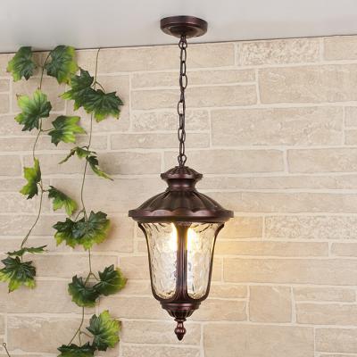 Уличный подвесной светильник Elektrostandard Carina H GLYF-1452H махагон 4690389063114