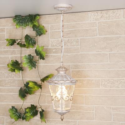 Уличный подвесной светильник Elektrostandard Diadema H GLYF-8046H белое золото 4690389062117