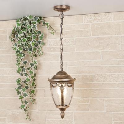 Уличный подвесной светильник Elektrostandard Mensa H черное золото 4690389064944