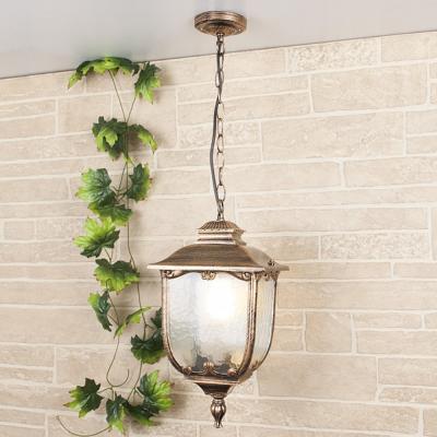 Уличный подвесной светильник Elektrostandard Sculptor H черное золото 4690389064685