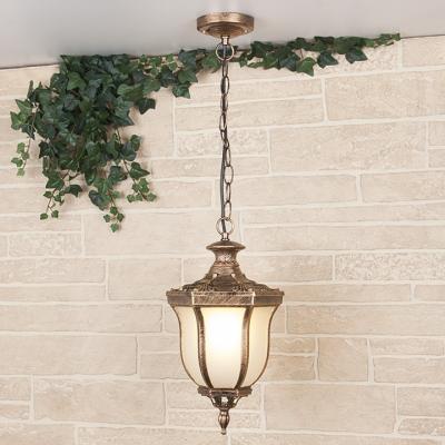 Уличный подвесной светильник Elektrostandard Taurus H черное золото 4690389065088
