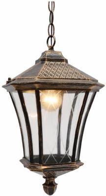 Уличный подвесной светильник Elektrostandard Virgo H черное золото 4690389064906
