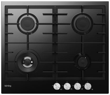 Варочная панель газовая Korting HG 630 CTN черный