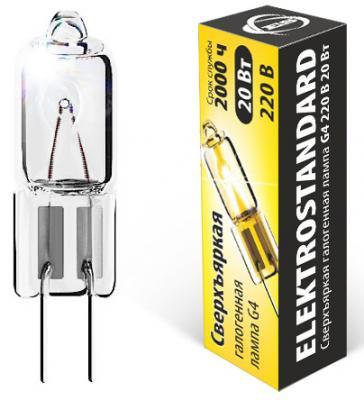 Лампа галогенная капсульная Elektrostandard G4 20W 4690389013638 лампа галогенная полусфера paulmann g4 20w 2900к 83233