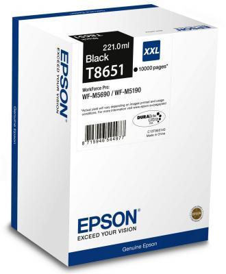 Картридж Epson C13T865140 для Epson WF-M5xxx черный картридж epson t1291 черный [c13t12914011]
