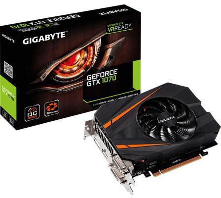 Видеокарта 8192Mb Gigabyte GeForce GTX1070 PCI-E 256bit GDDR5 DVI HDMI DP HDCP GV-N1070IXOC-8GD Retail
