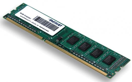 Оперативная память 4Gb (1x4Gb) PC3-12800 1600MHz DDR3 DIMM CL11 Patriot PSD34G16002 модуль оперативной памяти пк patriot psd48g213382h psd48g213382h