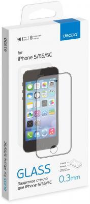 Защитное стекло прозрачная Deppa DEP-61930 для iPhone 5C iPhone 5S iPhone 5 0.33 мм