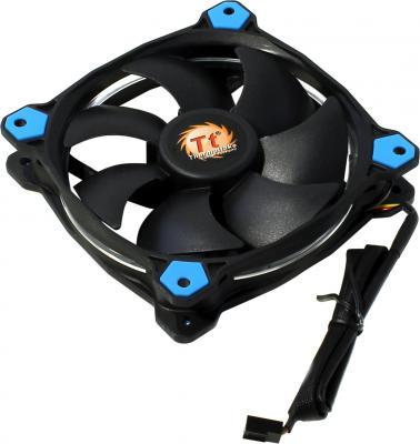 Вентилятор Thermaltake Fan Tt Riing 12 120x120x25 3pin 18.7-26.4dB синяя подсветка CL-F038-PL12BU-A