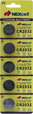 Батарейки Nexcell CR2032 210 mAh 5 шт