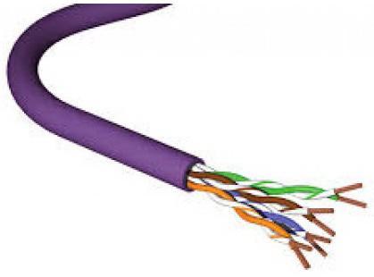 Кабель информационный Brand-Rex GPF-HF1-500VT кат.5е F/UTP общий экран 4X2X24AWG LSHF универсальный 500м фиолетовый