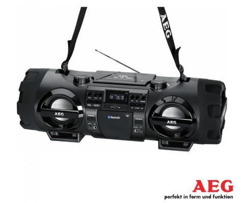 Магнитола AEG SR 4360 BT черный aeg mr 4139 bt schwarz bluetooth радиоприемник