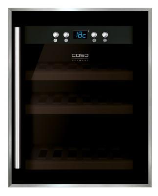Винный шкаф CASO WineSafe 12 серебристый винный шкаф caso winecase red 12 черный серебристый