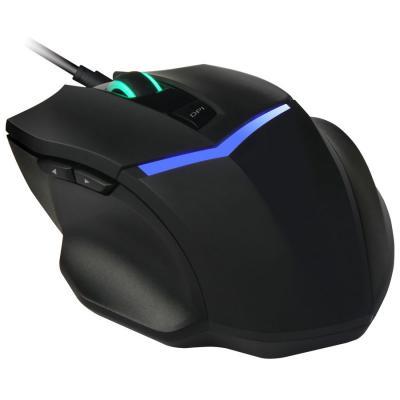Мышь проводная Oklick 825G чёрный синий USB