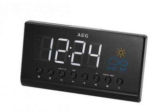 Радиобудильник AEG MRC 4141 P schwarz чёрный MRC 4141 P schwarz рюкзак picard 9809 113 001 schwarz