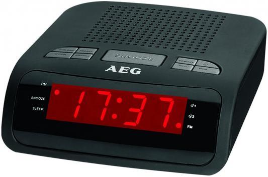 Радиочасы AEG MRC 4142 schwarz радиоприемник aeg mrc 4150 wh