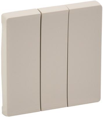 Лицевая панель Legrand Valena Life для выключателя 3-клавишного слоновая кость 755031