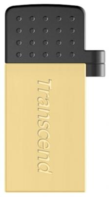 Флешка USB 8Gb Transcend Jetflash 380 OTG TS8GJF380G золотой цена и фото