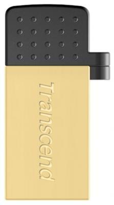 Флешка USB 8Gb Transcend Jetflash 380 OTG TS8GJF380G золотой флеш накопитель transcend 8gb jetflash 380 usb 2 0 металл золото ts8gjf380g
