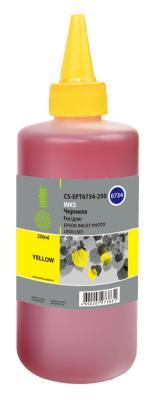 Чернила Cactus CS-EPT6734-250 для Epson L800/L810/L850/L1800 желтый 250мл чернила cactus cs ept6644 250 для epson l100 l110 l120 l132 l200 l210 l222 l300 l312 l350 l355 l362 l366 l456 l550 l555 l566 l1300 желтый 250мл