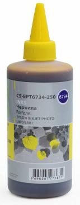 Чернила Cactus CS-EPT6734-250 для Epson L800/L810/L850/L1800 желтый 250мл