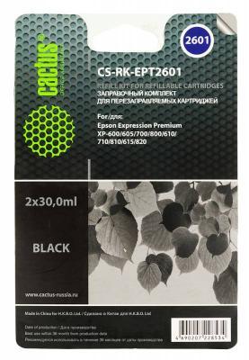 цена на Заправка Cactus CS-RK-EPT2601 для Epson Home XP-600 черный 60мл