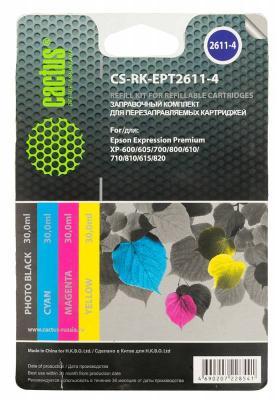 Заправка Cactus CS-RK-EPT2611-4 для Epson Home XP-600 цветной 120мл пинетки митенки other 2611