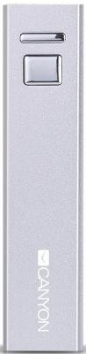 Портативное зарядное устройство Canyon CNE-CSPB26W Aluminium 2600мАч белый аксессуары для ванной и туалета modalin коврик для ванной evora цвет кремовый 50х70 см