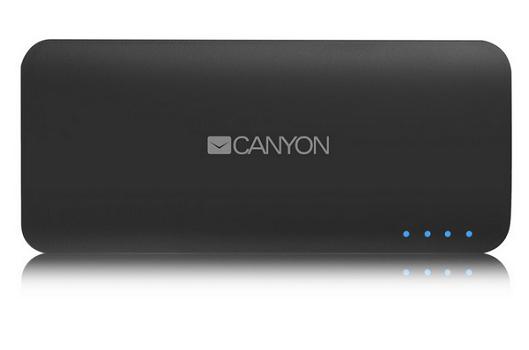 Внешний аккумулятор Power Bank 10000 мАч Canyon CNE-CPB100DG серый (H2CNECPB100DG)
