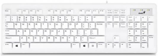 Клавиатура Genius SlimStar 130 USB белый клавиатура genius
