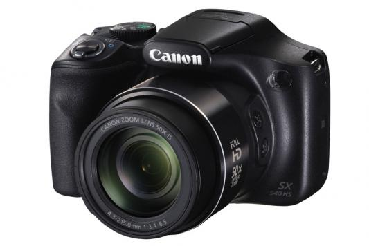 Фотоаппарат Canon PowerShot SX540 HS 20Mp 50xZoom черный 1067C002