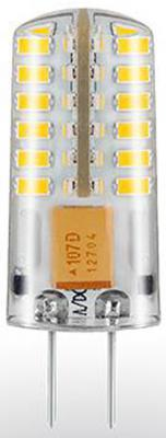 Лампа светодиодная G4 2.5W 3000K кукуруза прозрачная STD-JC-2,5W-G4/WW-Silicon 7867