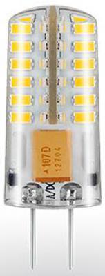 Лампа светодиодная G4 2.5W 6500K кукуруза прозрачная STD-JC-2,5W-G4/CW-Silicon 7355